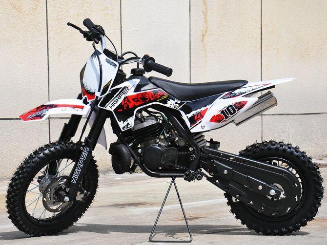 Kinder Cross Motorrad 50ccm 2 Takt - 12/ 10 Zoll Reifen Sportgerät mit Power