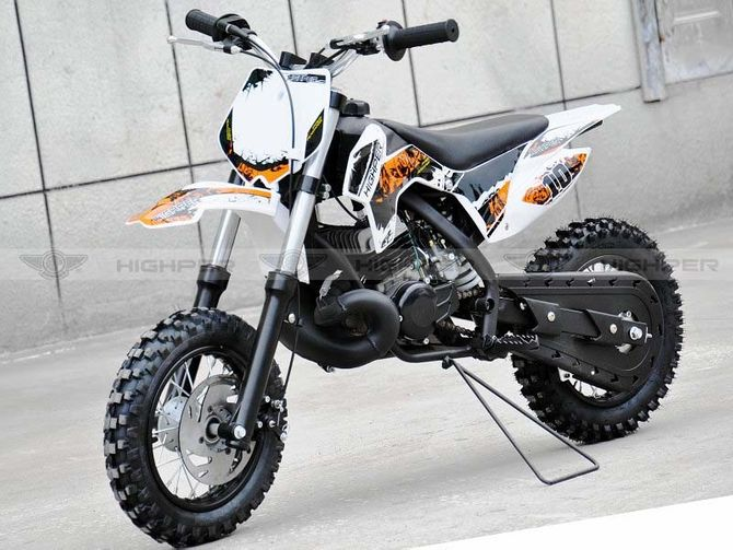 Kinder Cross Motorrad 50ccm 2 Takt - 10 Zoll Reifen Sportgerät mit Power