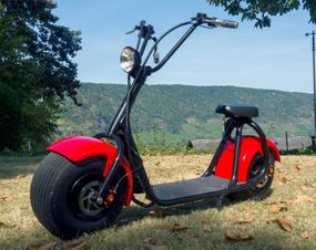 E-Scooter Big Wheeler Chopper Roller mit 1000 Watt - 60Volt Lithium Akkupack
