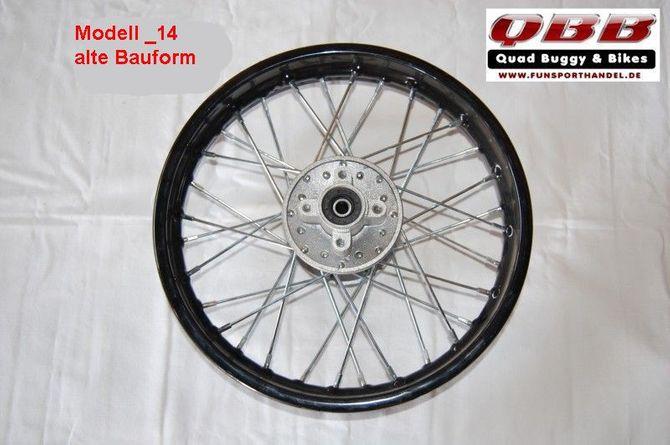 "Felge 14"" Zoll Dirtbike Crossbike 1,85x14"""
