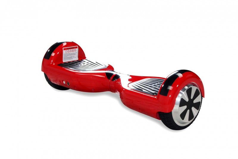 "Hoverboard - Selbstbalancierender E-Scooter - Elektro Board Modell AB700 6.5"" - rot – Bild 4"