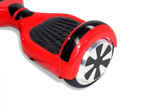 """Hoverboard - Selbstbalancierender E-Scooter - Elektro Board Modell AB700 6.5"""" - rot"""
