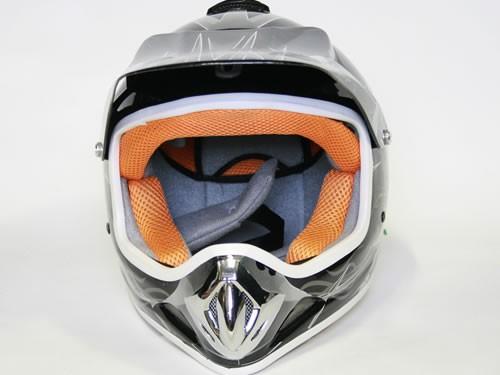 Kinder Helm Cross - Helm für Kinderquad Pocketbike - Schwarz – Bild 2
