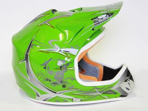 Kinder Helm Cross - Helm für Kinderquad Pocketbike - Grün – Bild 5