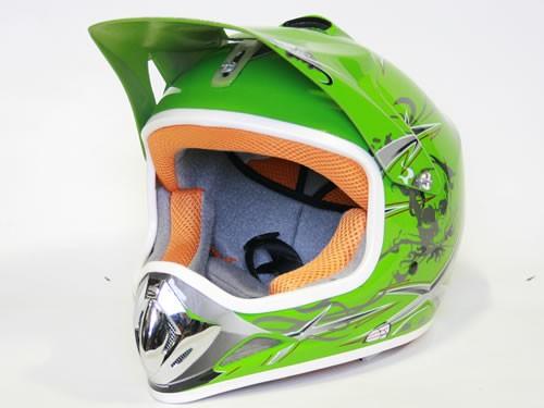 Kinder Helm Cross - Helm für Kinderquad Pocketbike - Grün – Bild 3