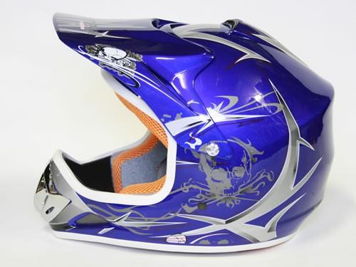 Kinder Helm Cross - Helm für Kinderquad Pocketbike - Blau – Bild 5