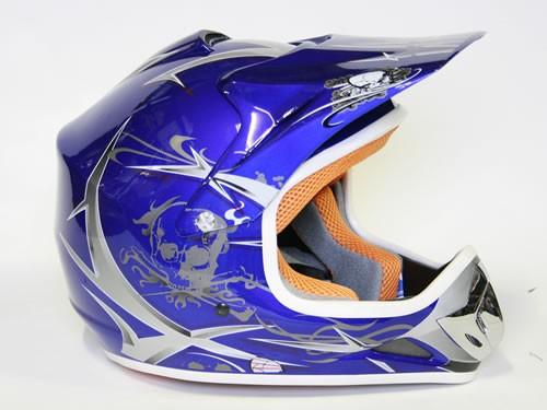 Kinder Helm Cross - Helm für Kinderquad Pocketbike - Blau – Bild 7