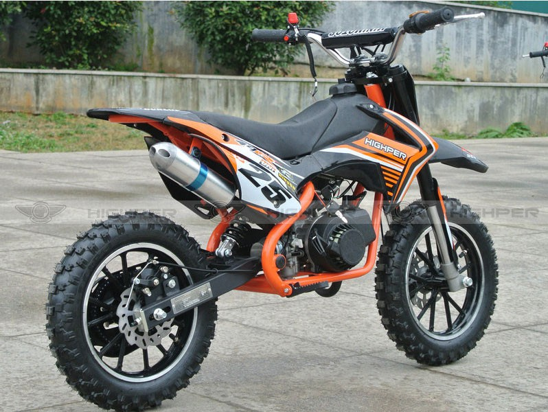dirtbike 50ccm cross bike 2 takt 10 zoll inkl. Black Bedroom Furniture Sets. Home Design Ideas