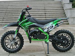 Dirtbike 50ccm Cross Bike 2 Takt - 10 Zoll inkl. drosselbarerem Gasgriff - NEU Modell 49-R 001