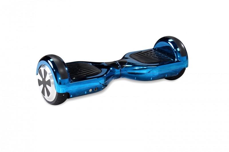 "Hoverboard - Selbstbalancierender E-Scooter - Elektro Board Modell AB700 6.5"" - blau - chrome – Bild 1"
