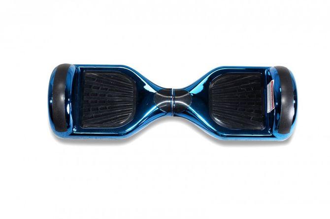 "Hoverboard - Selbstbalancierender E-Scooter - Elektro Board Modell AB700 6.5"" - blau - chrome"