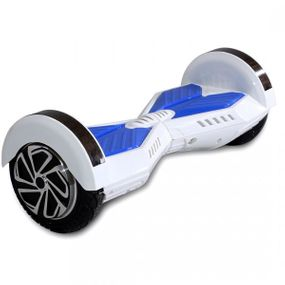 "Hoverboard - Selbstbalancierender E-Scooter - Elektro Board Modell AB700 - 8"" weiss-blau"