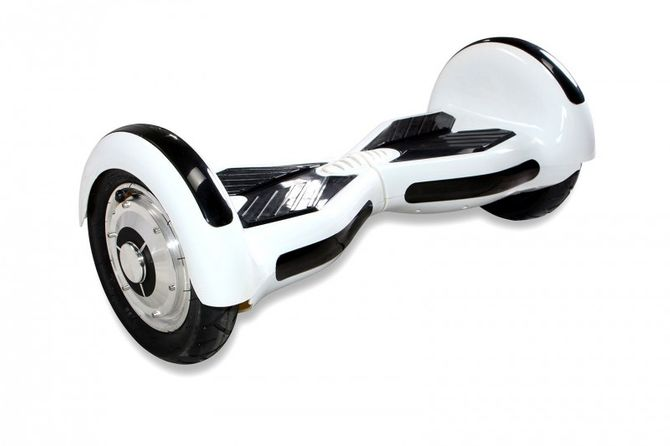 "Hoverboard - Selbstbalancierender E-Scooter - Elektro Board Modell AB800 - 10"" weiss"