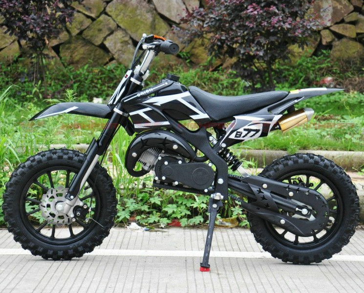 Dirtbike 50ccm Cross Bike 2 Takt - 10 Zoll inkl. drosselbarerem Gasgriff  – Bild 3