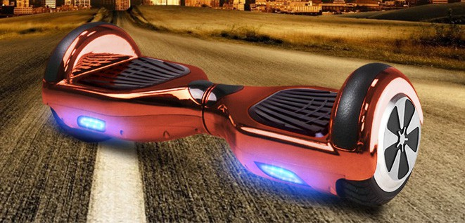 Balance Board - E-Balance Scooter - Hoverboard 600W  36V - Chrome Rot – Bild 1
