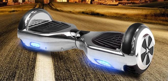 Balance Board - E-Balance Scooter - Hoverboard 600W  36V - Chrome Silber – Bild 1