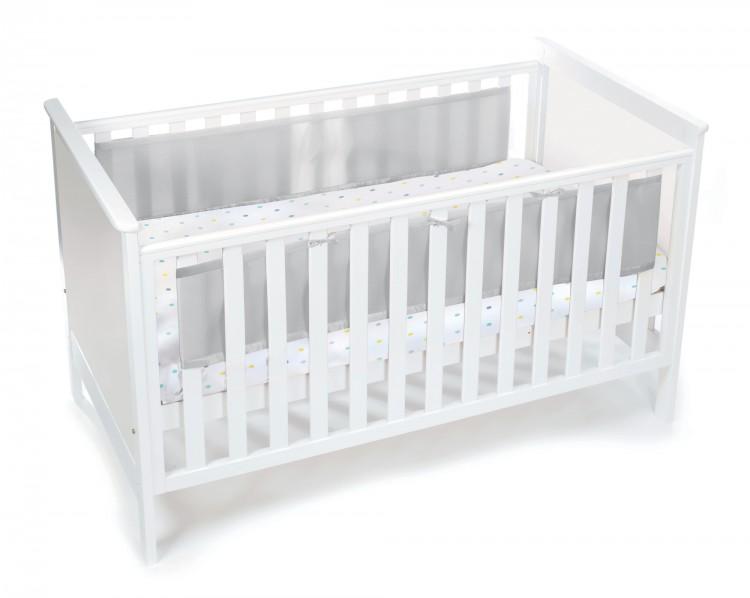 Luftdurchlässiges Babynest für Betten mit geschlossenem Kopf- und Fußteil – Bild 1