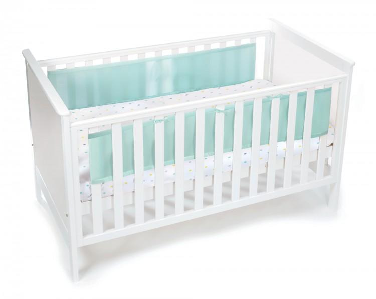 Luftdurchlässiges Babynest für Betten mit geschlossenem Kopf- und Fußteil – Bild 2