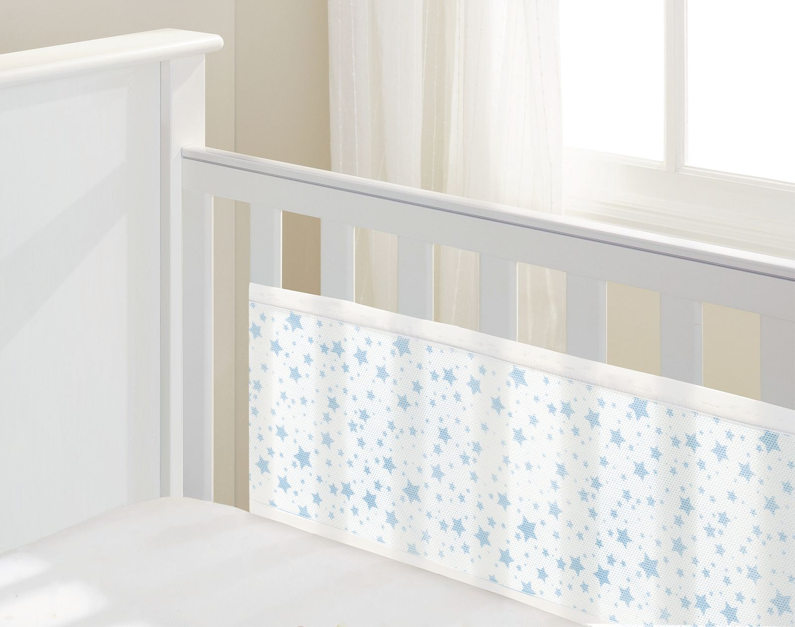 Luftdurchlässiges Babynest für Betten mit geschlossenem Kopf- und Fußteil – Bild 23