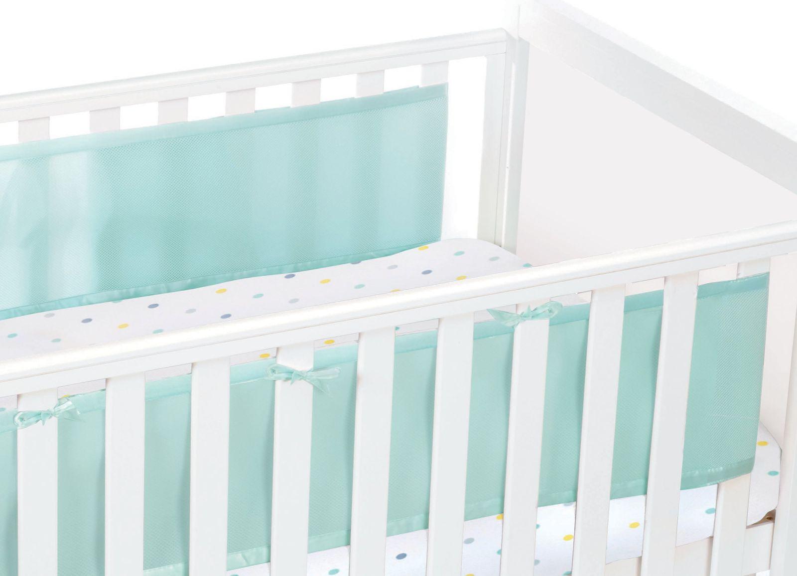 Luftdurchlässiges Babynest für Betten mit geschlossenem Kopf- und Fußteil – Bild 21
