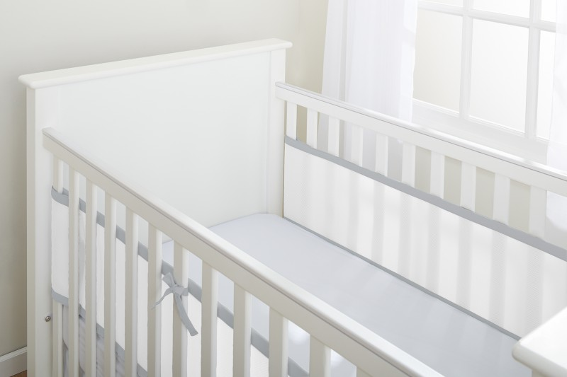 Luftdurchlässiges Babynest für Betten mit geschlossenem Kopf- und Fußteil – Bild 13