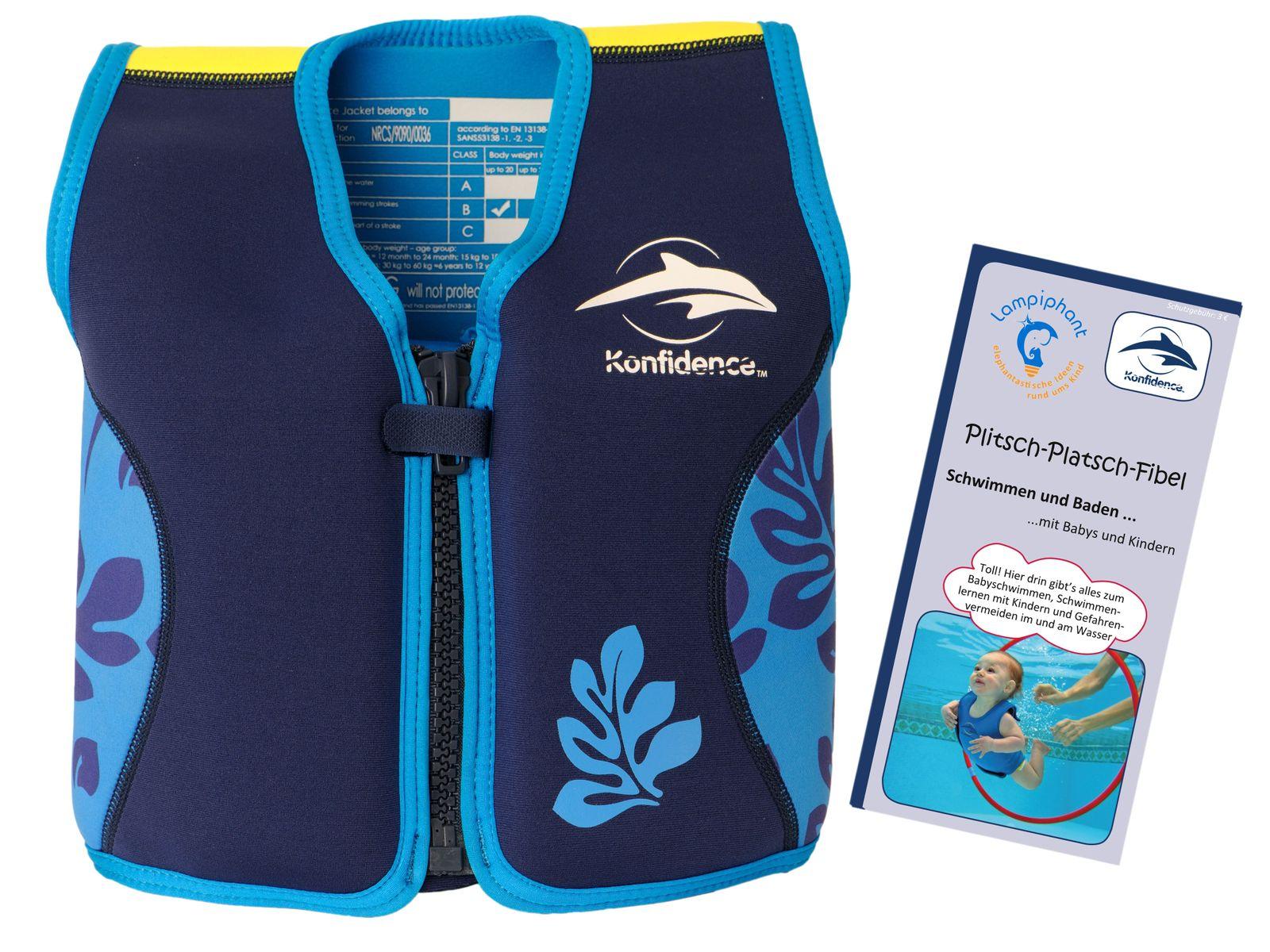 Konfidence Kinderschwimmweste, Schwimmhilfe mit  Lampiphant Plitsch-Platsch-Fibel – Bild 4