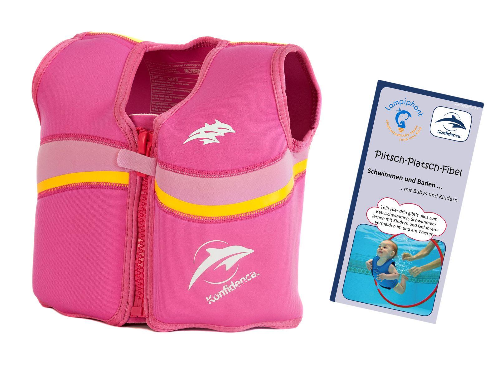 Konfidence Kinderschwimmweste, Schwimmhilfe mit  Lampiphant Plitsch-Platsch-Fibel – Bild 10