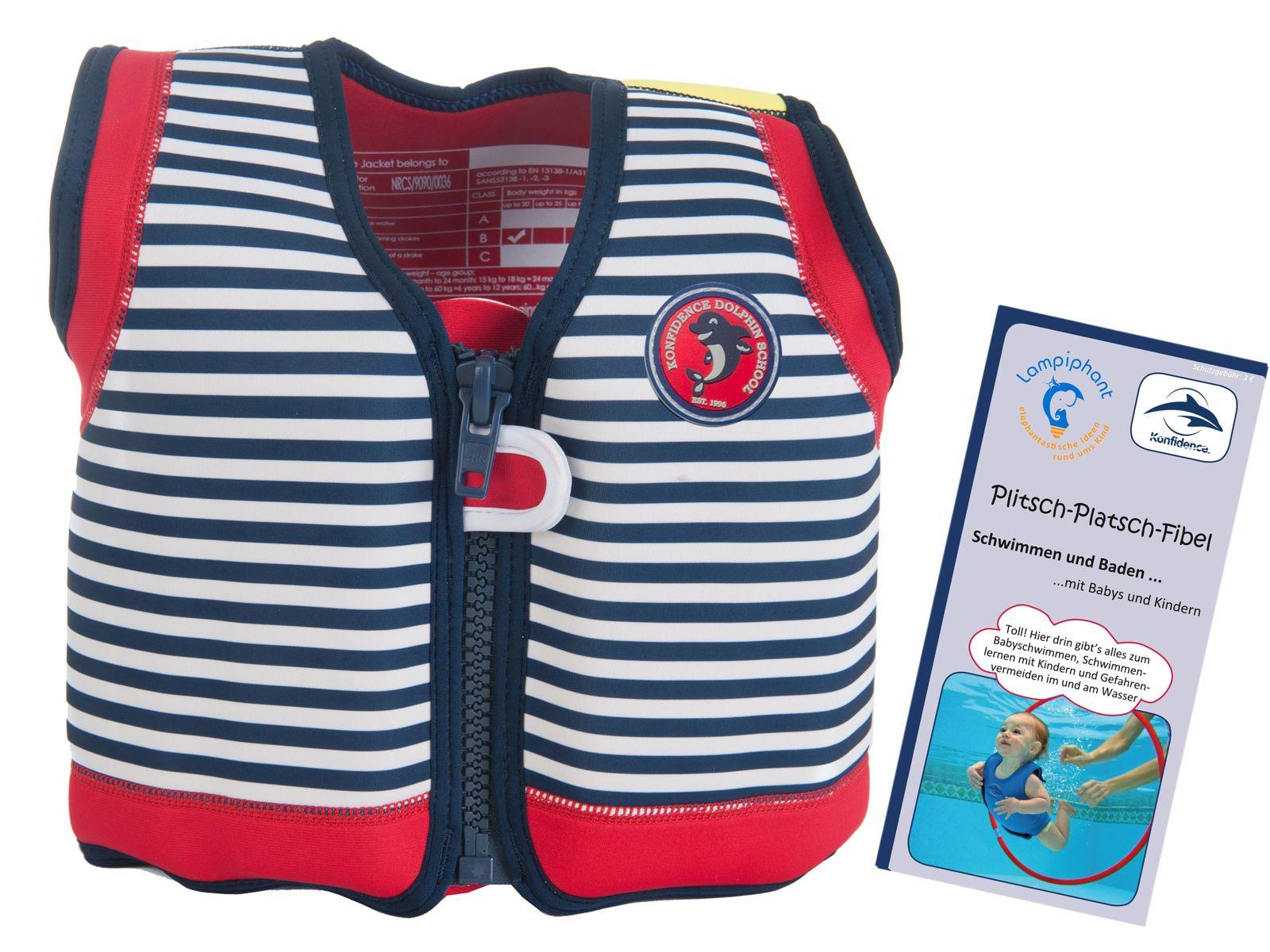 Konfidence Kinderschwimmweste, Schwimmhilfe mit  Lampiphant Plitsch-Platsch-Fibel – Bild 5
