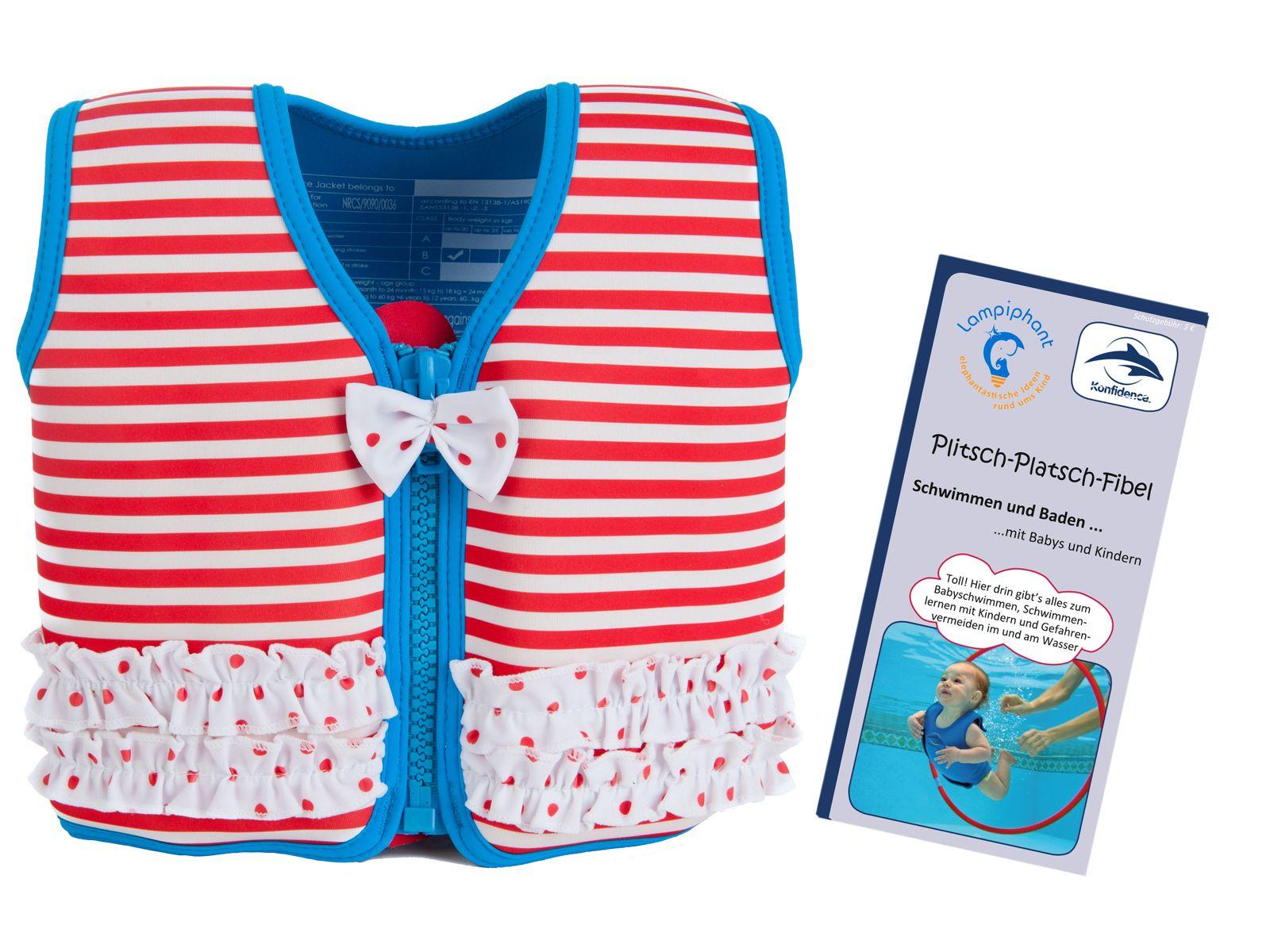 Konfidence Kinderschwimmweste, Schwimmhilfe mit  Lampiphant Plitsch-Platsch-Fibel – Bild 8