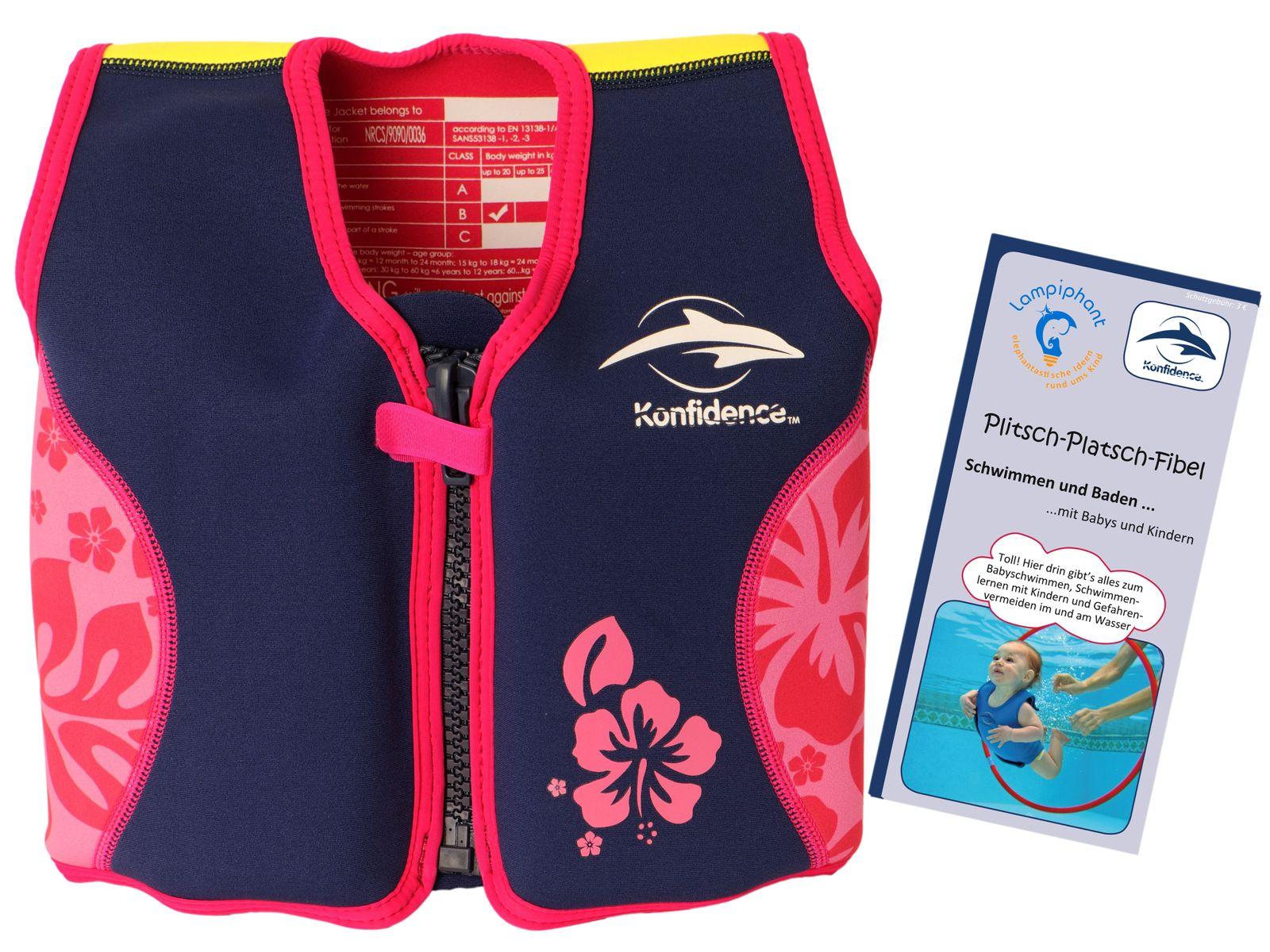 Konfidence Kinderschwimmweste, Schwimmhilfe mit  Lampiphant Plitsch-Platsch-Fibel – Bild 7