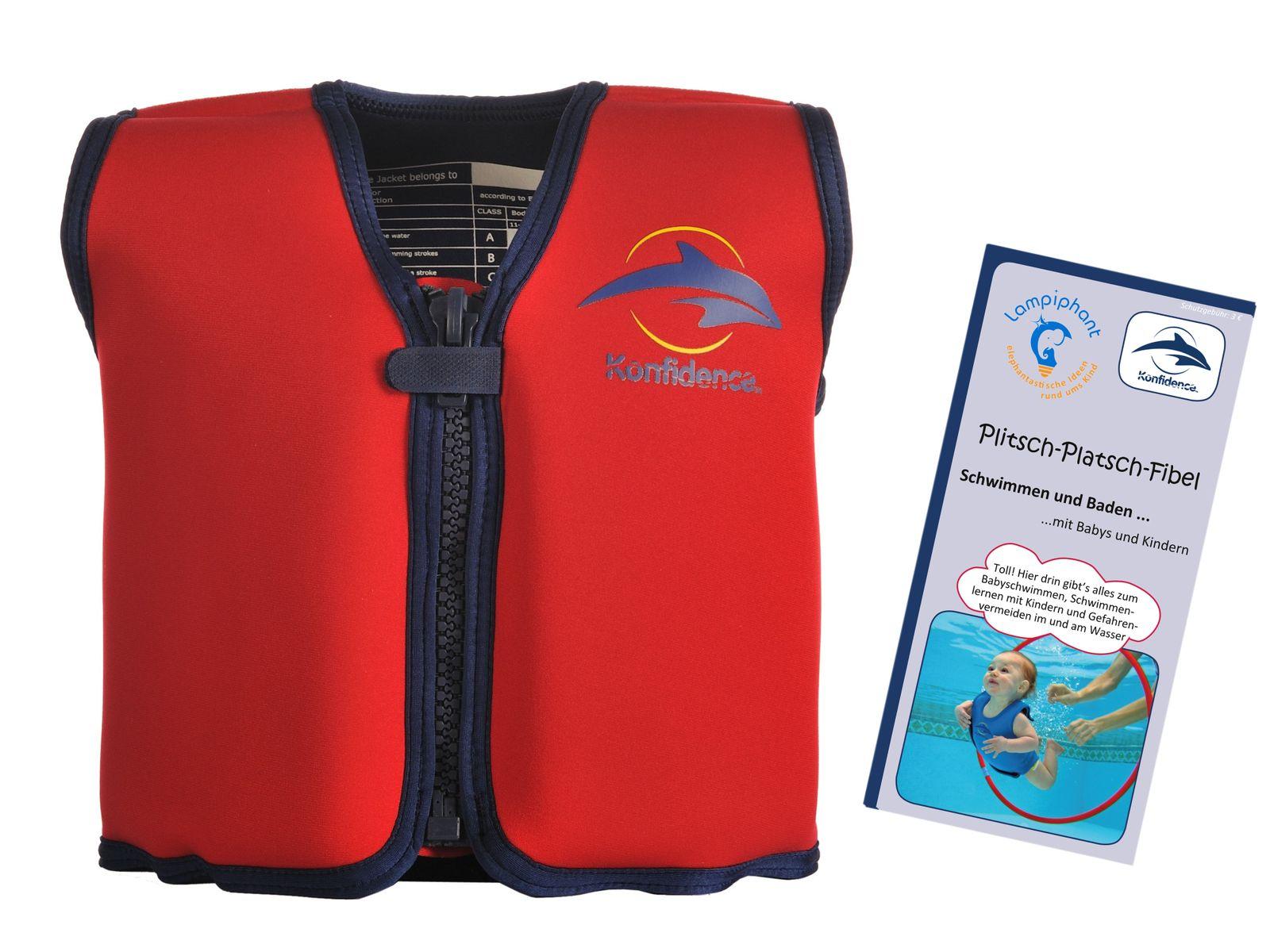 Konfidence Kinderschwimmweste, Schwimmhilfe mit  Lampiphant Plitsch-Platsch-Fibel – Bild 3