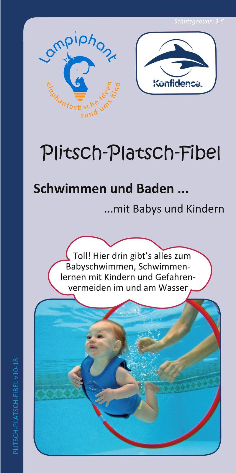 Konfidence Kinderschwimmweste, Schwimmhilfe mit  Lampiphant Plitsch-Platsch-Fibel – Bild 13