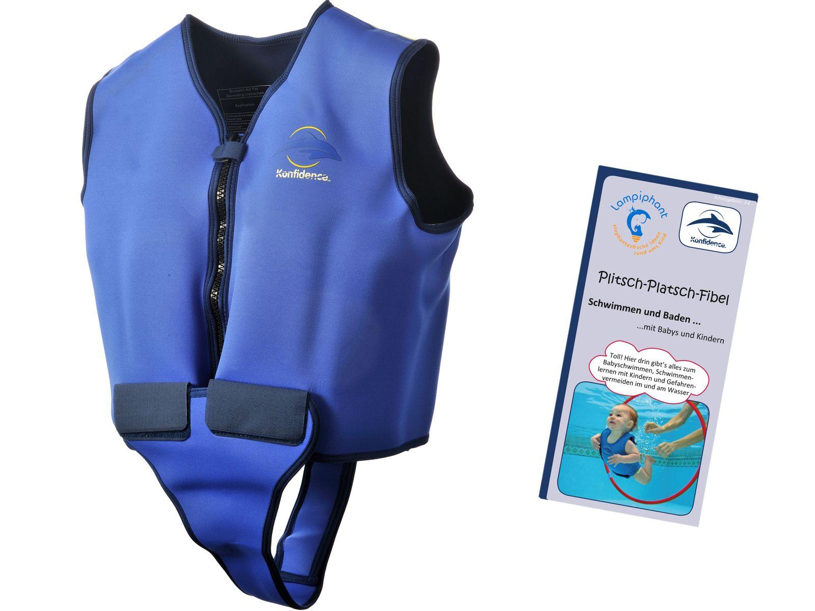 Konfidence Schwimmweste, Schwimmhilfe für Erwachsene mit umfangreichem Schwimmratgeber – Bild 1