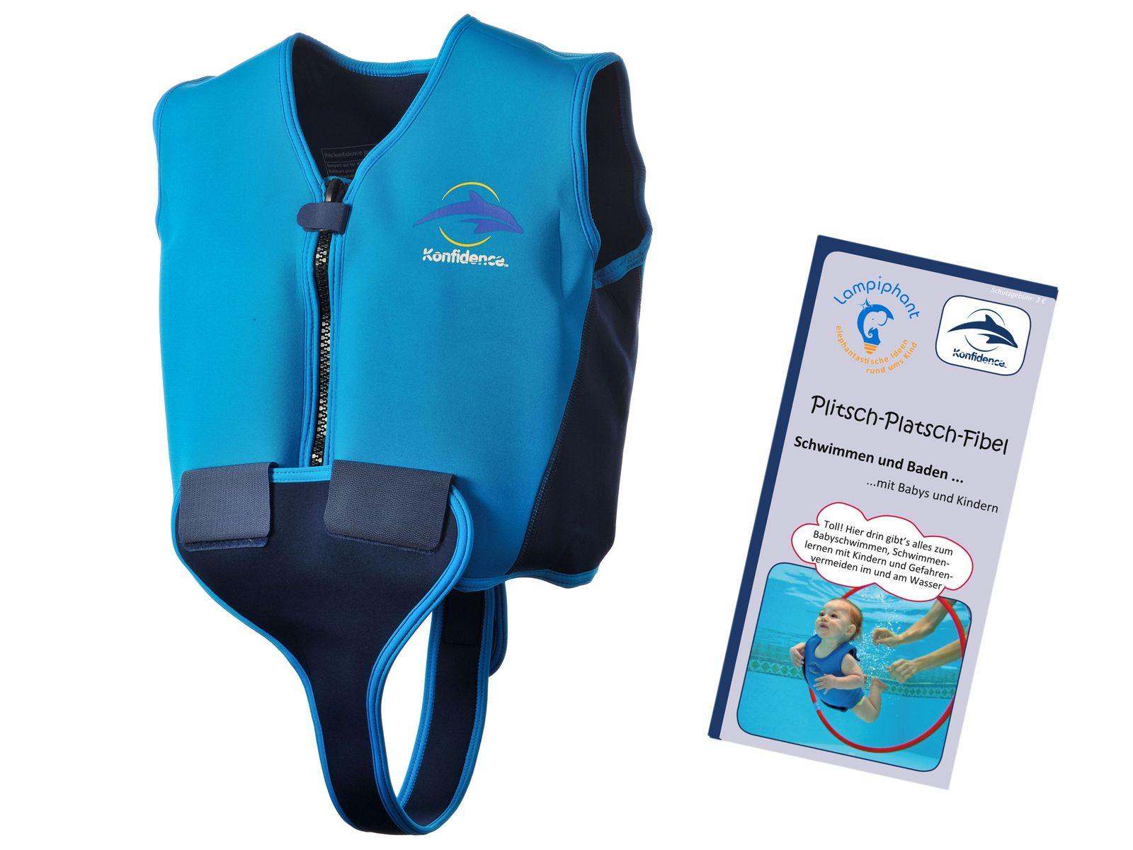 Konfidence Jugendschwimmweste, Schwimmhilfe mit umfangreichem Schwimmratgeber – Bild 1