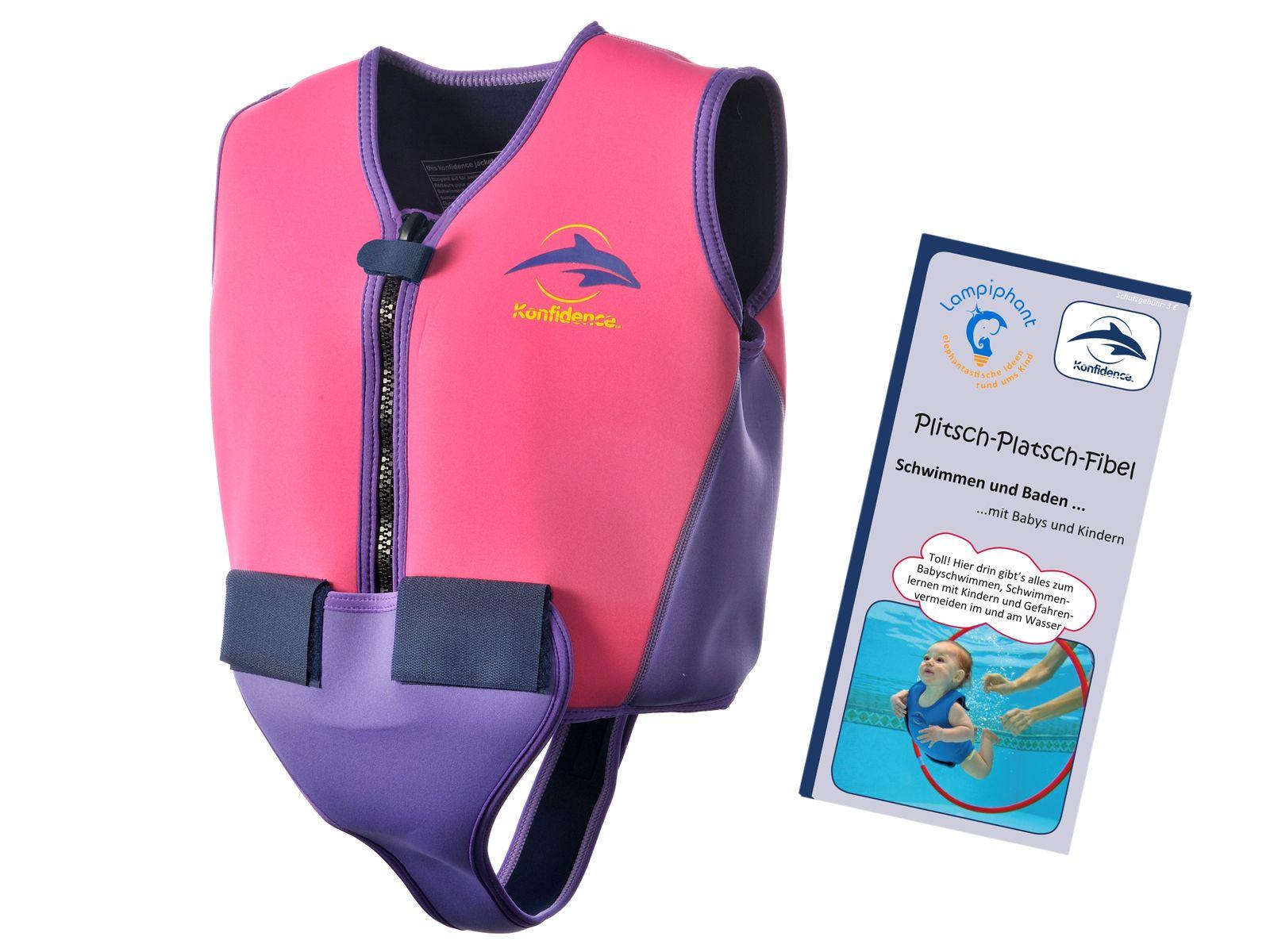 Konfidence Jugendschwimmweste, Schwimmhilfe mit umfangreichem Schwimmratgeber – Bild 2
