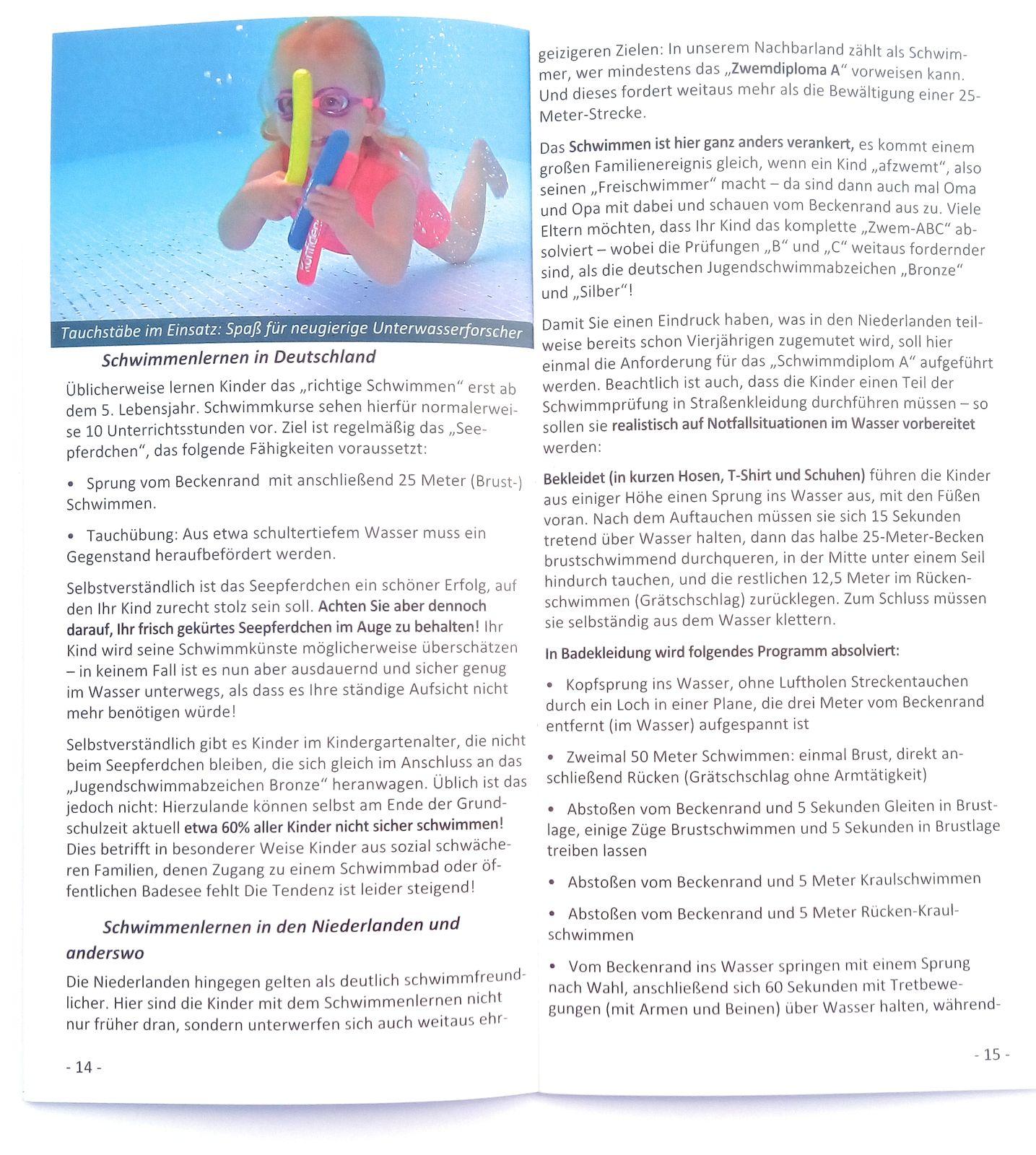 Konfidence Jugendschwimmweste, Schwimmhilfe mit umfangreichem Schwimmratgeber – Bild 4