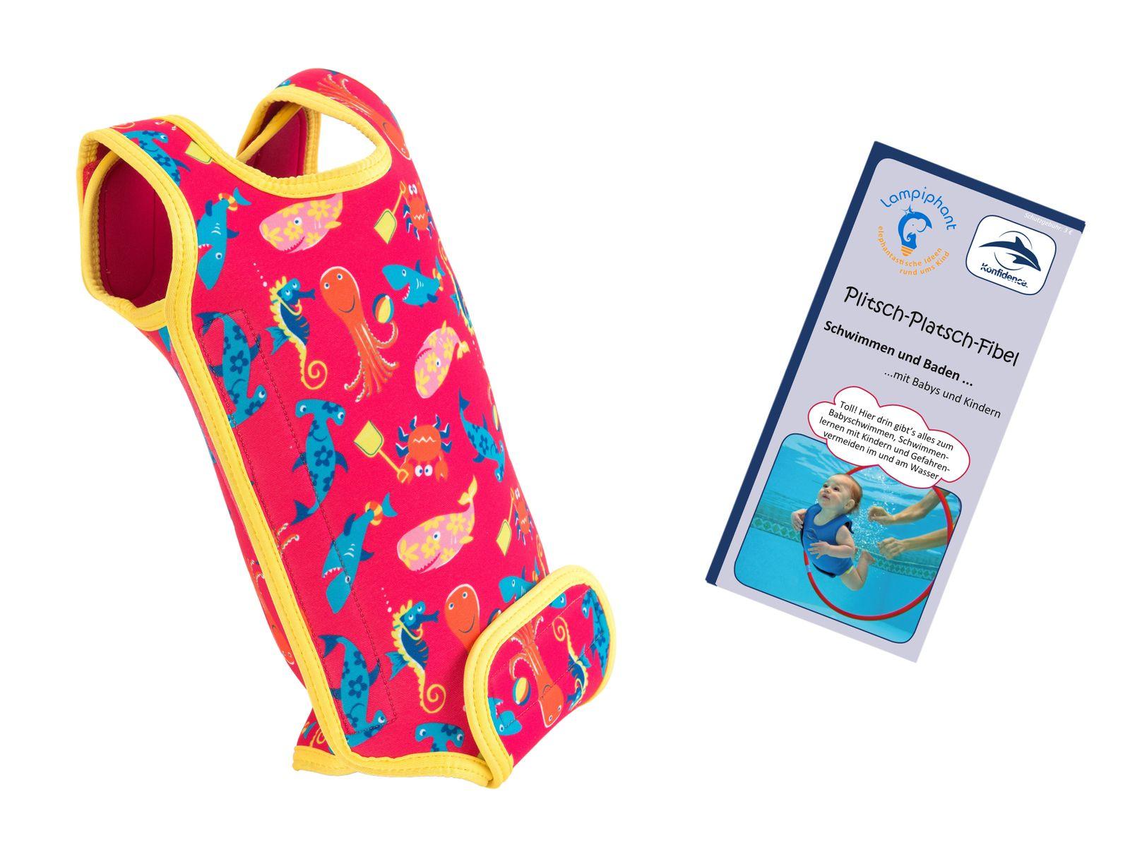 Lampiphant® + Konfidence Babywarma, Schwimm-Anzug mit Plitsch-Platsch-Fibel – Bild 10