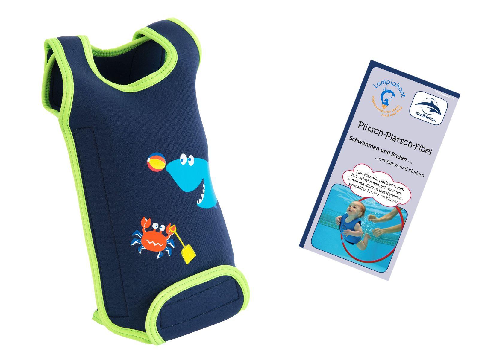 Lampiphant® + Konfidence Babywarma, Schwimm-Anzug mit Plitsch-Platsch-Fibel – Bild 7