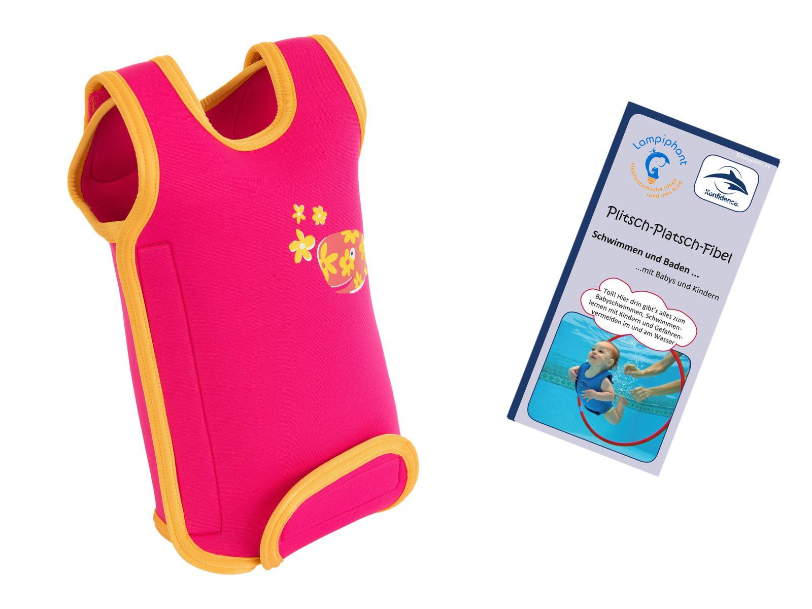 Lampiphant® + Konfidence Babywarma, Schwimm-Anzug mit Plitsch-Platsch-Fibel – Bild 13