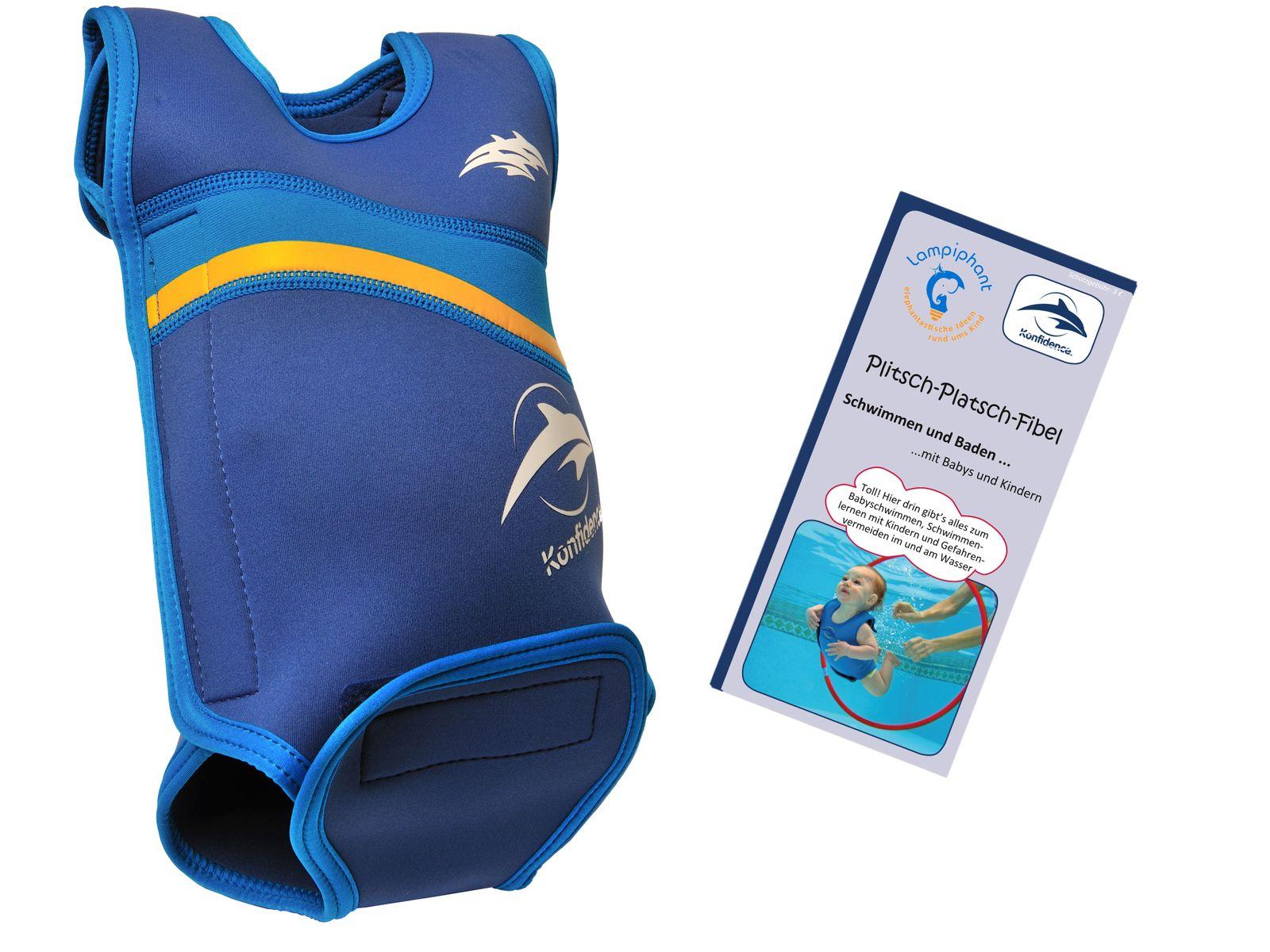Lampiphant® + Konfidence Babywarma, Schwimm-Anzug mit Plitsch-Platsch-Fibel – Bild 9