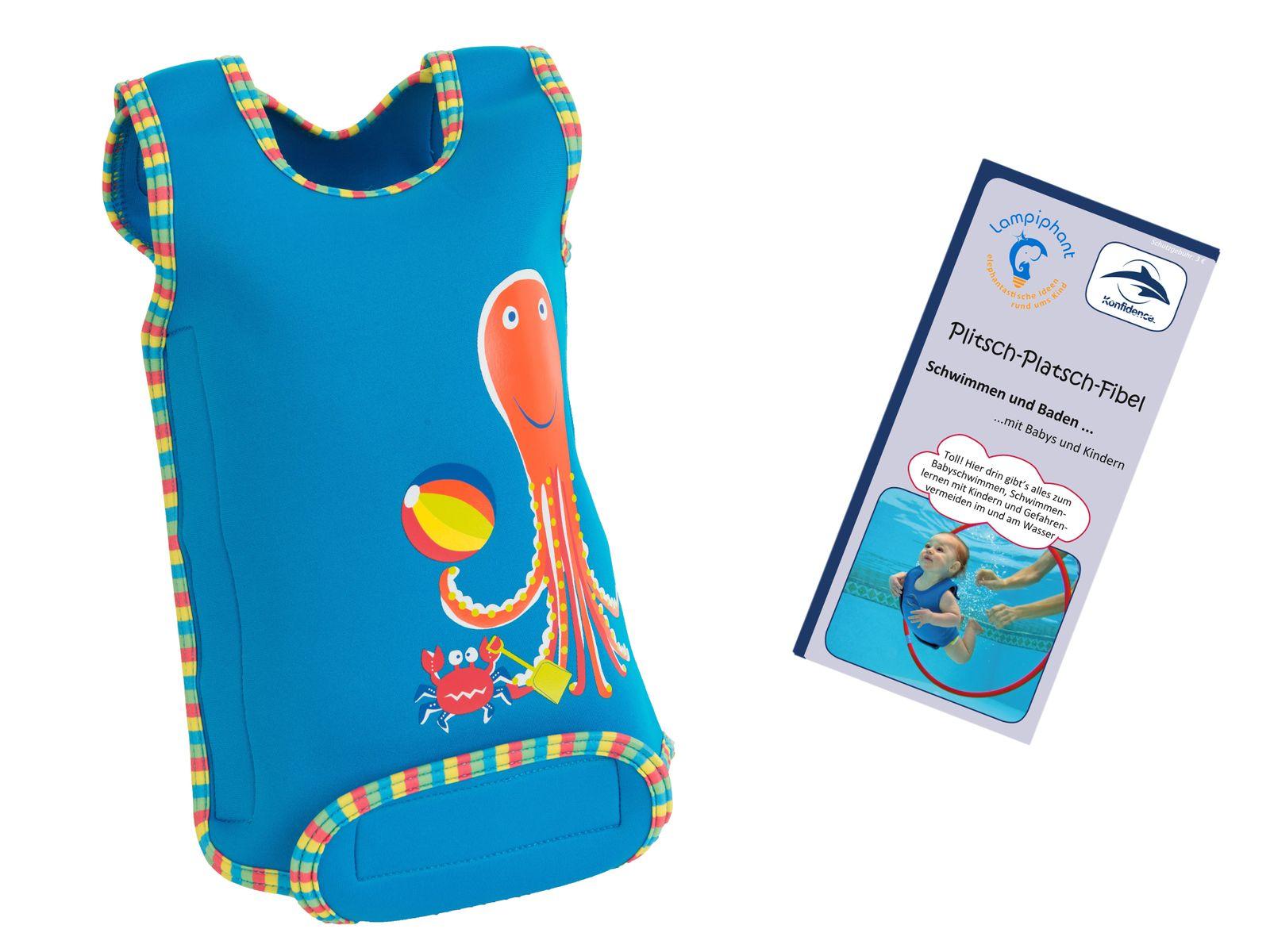 Lampiphant® + Konfidence Babywarma, Schwimm-Anzug mit Plitsch-Platsch-Fibel – Bild 8