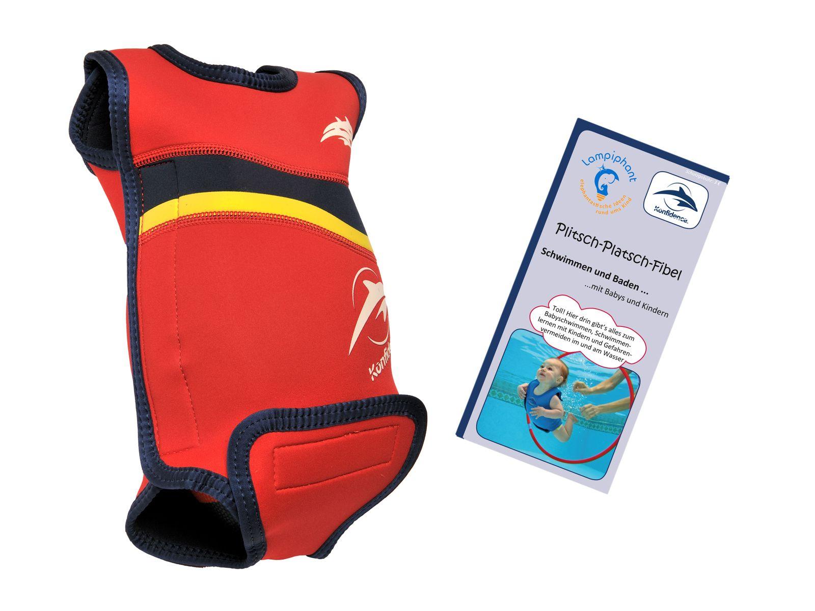 Lampiphant® + Konfidence Babywarma, Schwimm-Anzug mit Plitsch-Platsch-Fibel – Bild 5