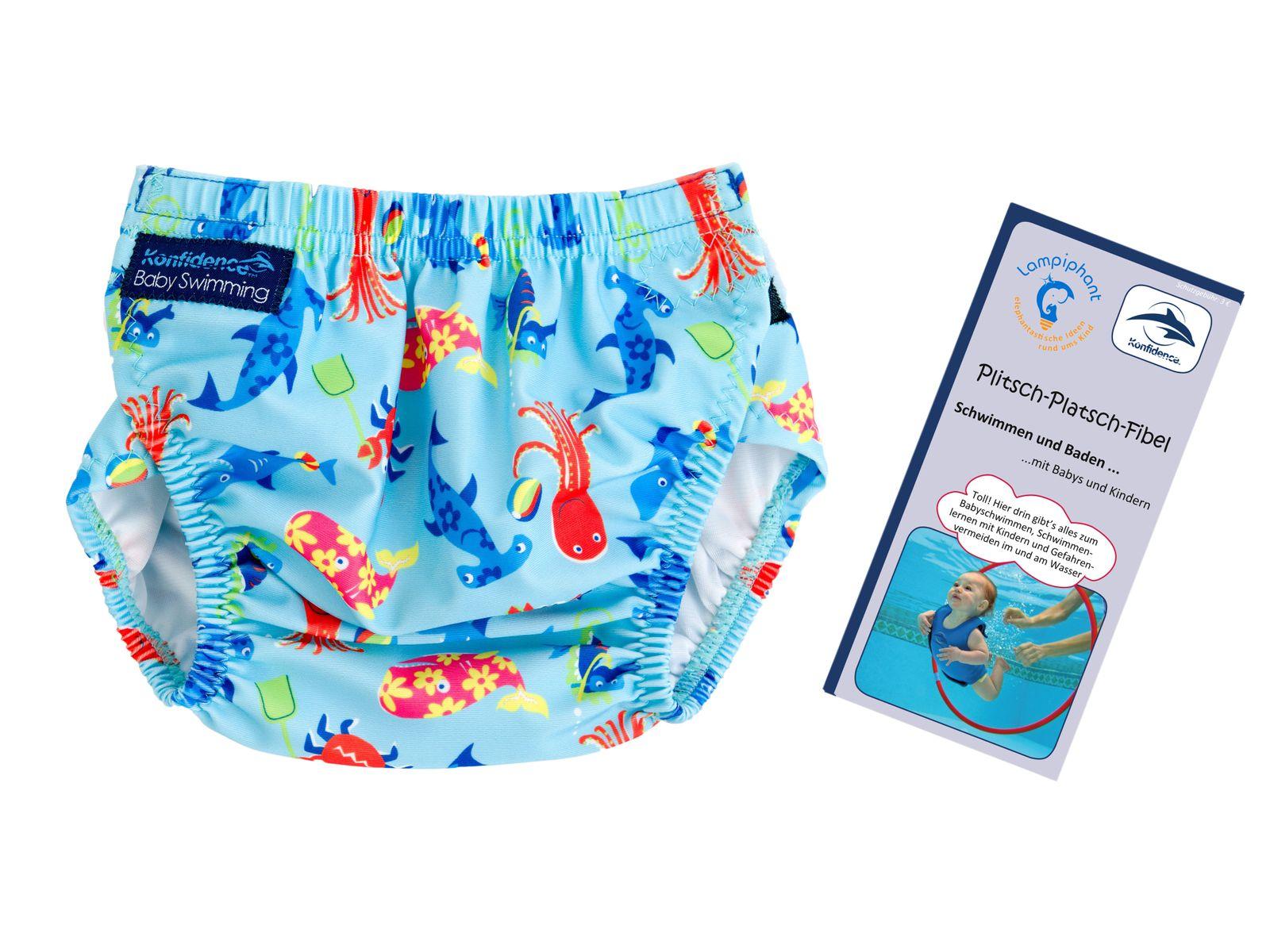 Konfidence Schwimmwindel mit umfangreichem Babyschwimmratgeber (passt von 3 Monate bis 3 Jahre) – Bild 5