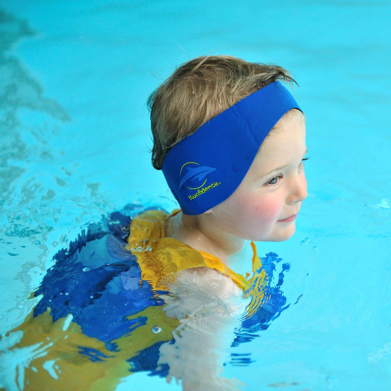 Lampiphant® + Konfidence Aquaband: Neoprenstirnband mit Silikon-Ohrstöpseln und umfangreicher Plitsch-Platsch-Fibel – Bild 9