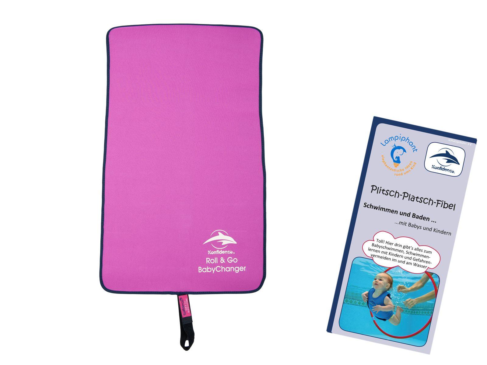 Lampiphant® + Konfidence BabyChanger Neopren-Wickelunterlage mit Plitsch-Platsch-Fibel, verschiedene Farben – Bild 5