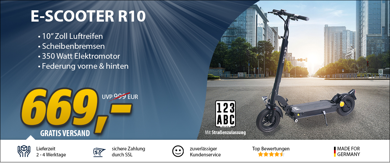 E-Scooter R10 mit Straßenzulassung