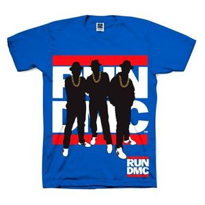Run DMC Mens Fan T-Shirt Silhouette von S-2XL 001