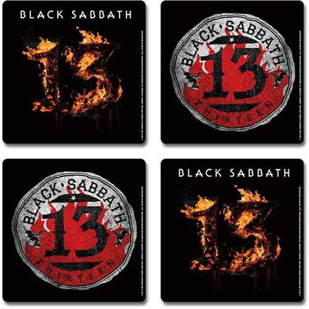 Black Sabbath Untersetzer Coaster 4er Set Motiv 13