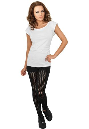 Urban Classics Ladies Cutted Leggings in schwarz von XS-XL – Bild 1