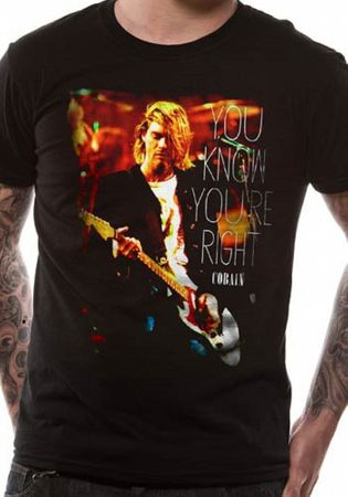 Kurt Cobain Bandshirt You Know You`Re von S-2XL